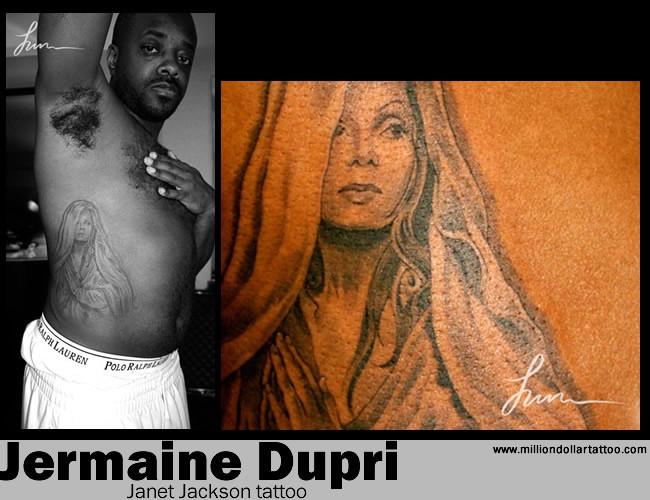 Jermaine Dupri's Janet Jackson tattoo