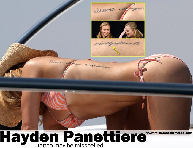 Hayden Panettiere's tattoo may be misspelled